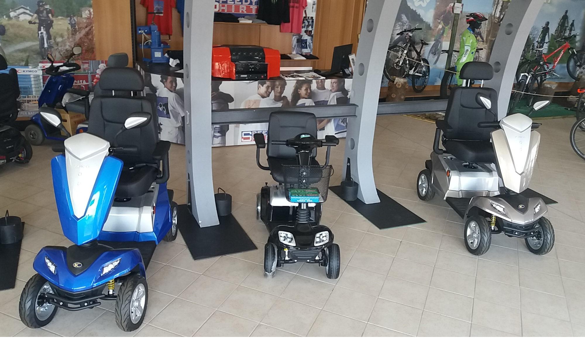 Scooter elettrici Kymco per disabili e anziani