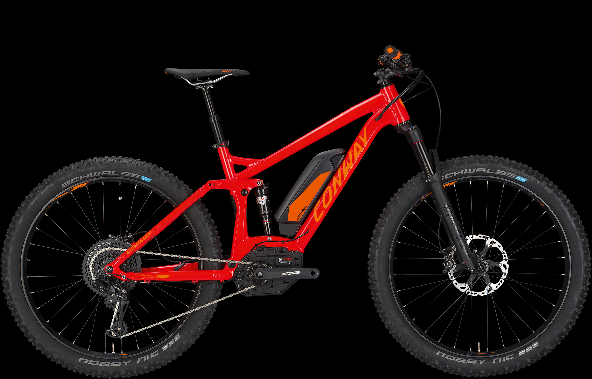 E-bike Conway EMF-527 plus rossa 2017